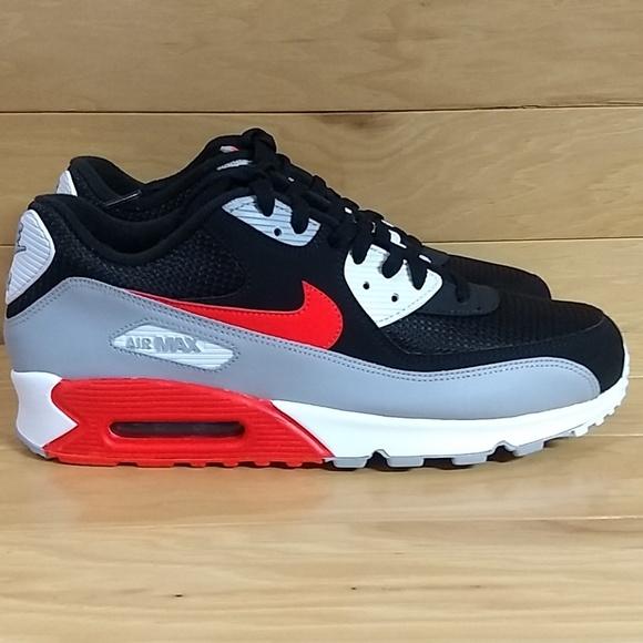 Nike Air Max 90 Essential Grey Black AJ1285 012 NWT